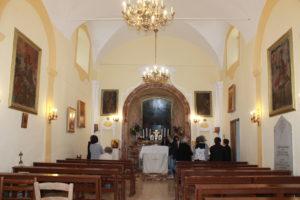 L'interno della chiesa dell'Odigitria di Piana degli Albanesi (PA)