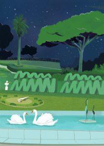 """Il Giardino Bellini (Illustrazione di Alice Caldarella da """"La città dell'elefante"""", Splēn edizioni)"""